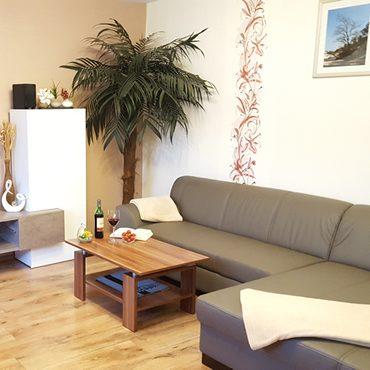Ferienwohnung Villa Waldblick - Wohnzimmer FeWo 1