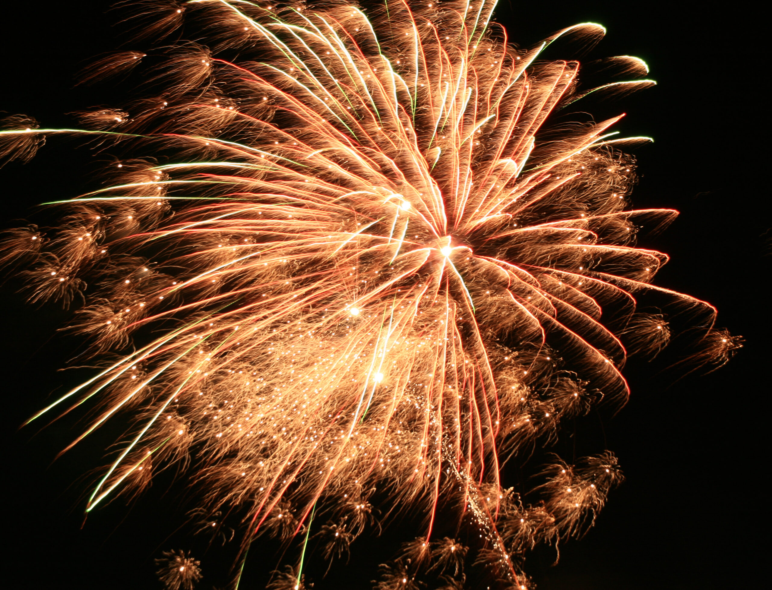 Strand Zempin - Feuerwerk am 3ten Oktober