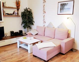 Ferienwohnung Villa Waldblick – Wohnzimmer FeWo 1