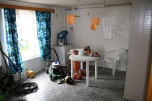 Auch noch das alte Bad - heute das Wohnzimmer der FeWo I