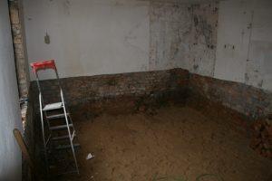 Das alte Bad wird tiefergelgt