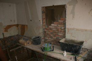 Die Tür zum alten Wohnzimmer wird verschlossen