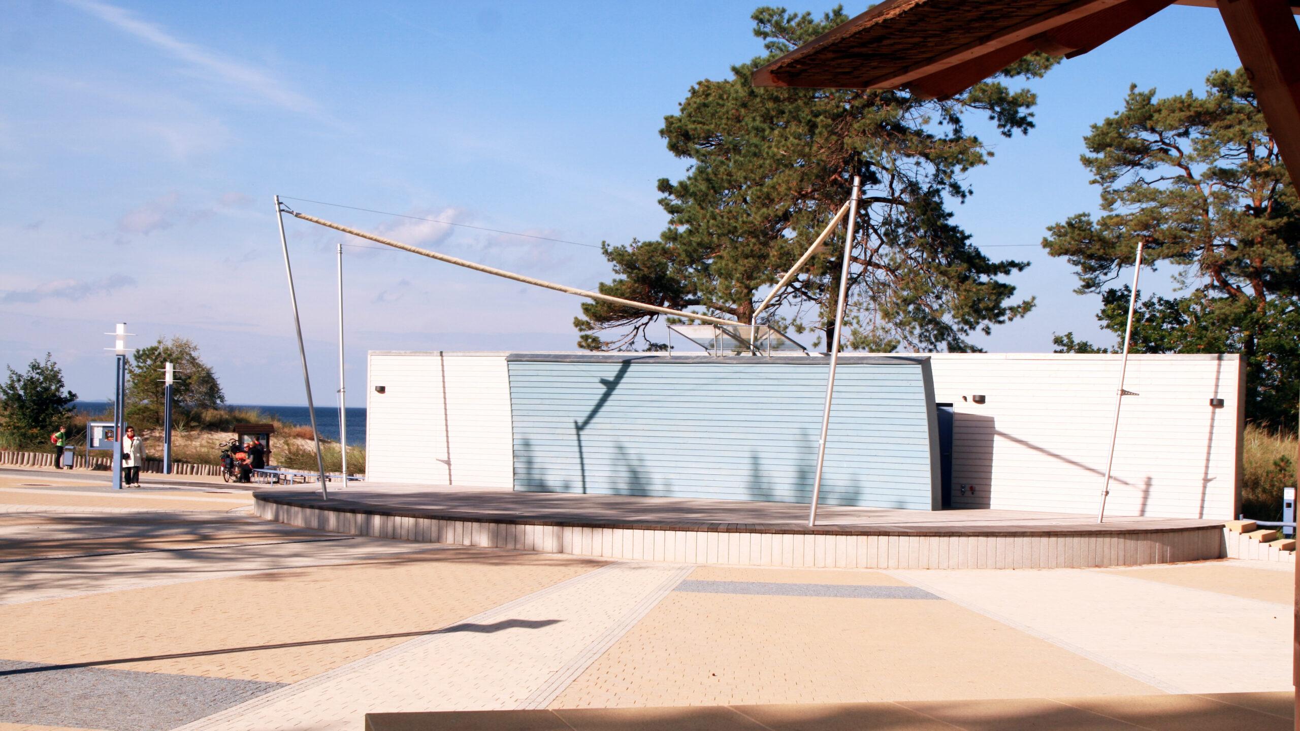 Strandpromenade Festplatz Zempin Insel Usedom Ausflugsziel Erholung Urlaub