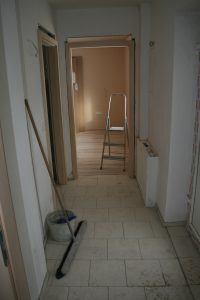 Der alte - neue Eingangsbereich -ehemals ein Teil der damaligen Küche nach Fertigstellung