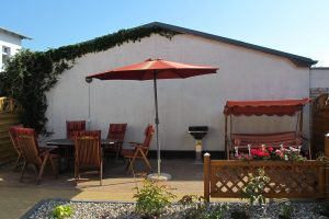 Die Terrasse - schon damals ein Ort zur Entspannung